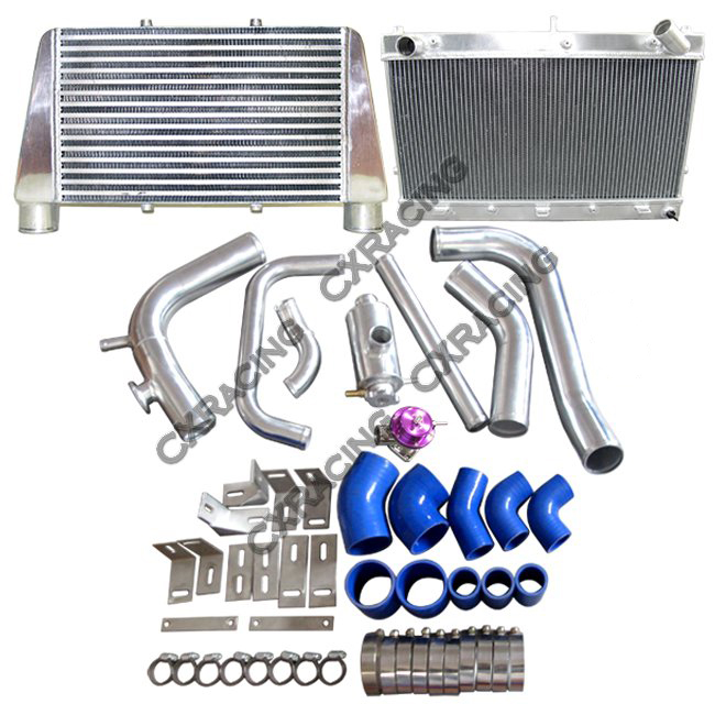 300zx Twin Turbo Dual Intake: V-M Radiator Intercooler Kit For RB25DET 300ZX Z32 RB25