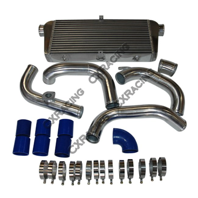 Front Mount Turbo Intercooler Aluminum Piping Kit For 91