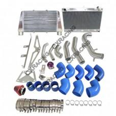 Intercooler + Radiator + Turbo Intake Filter BOV Kit For Z31 300ZX VG30ET V-Mount