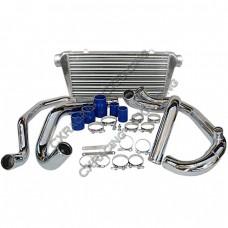 FMIC Intercooler Kit For 95-00 SUBARU GC8 WRX STI,Tube & Fin Intercooler