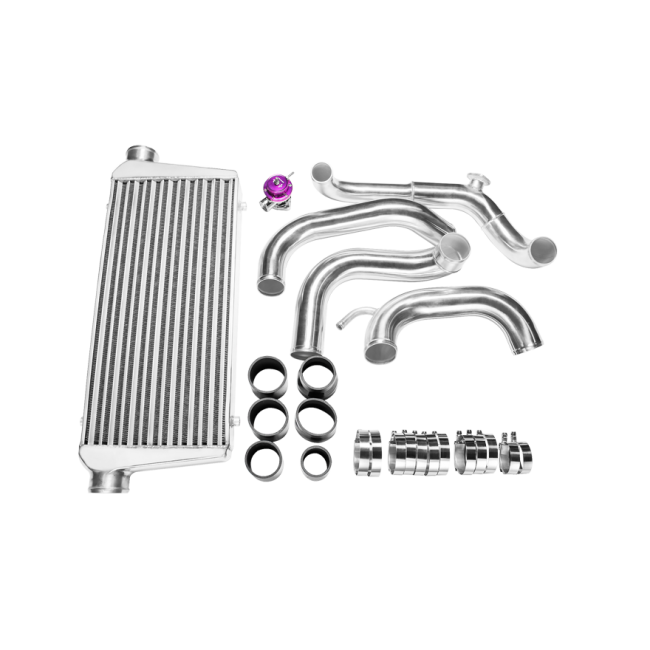 tube  u0026 fin fmic intercooler piping kit   bov for 89