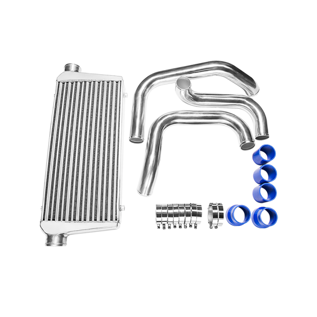 tube  u0026 fin front mount intercooler piping kit for nissan