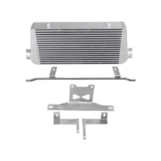 """31x12x4 Intercooler + Mounting Bracket For 05-14 Ford Mustang 4"""" Core"""