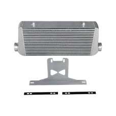 """4"""" Core Intercooler + Mounting Bracket Kit For 2015 + Ford Mustang GT V8 5.0"""