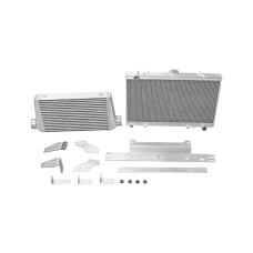 Intercooler Radiator Mounting Bracket Kit For 86-91 RX7 RX-7 FC LS1 2JZ LS RB