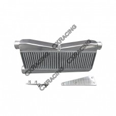 "Twin Turbo 27""x12.5""x3.5"" Intercooler + Brackets For 79-93 Ford Mustang Camaro"