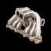 Top Mount Single Turbo Manifold For Toyota 1JZ-GTE 1JZGTE Vband WG S13 MX83