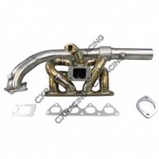 "RAM Thick Manifold + 3"" Downpipe For Civic Integra B18 LS GSR B-Series EK EG DC2 5 Bolt"