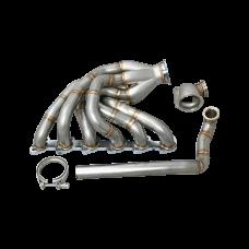 New V2 Turbo Exhaust Manifold for 84-91 BMW E30 M20 Engine T4 Vband