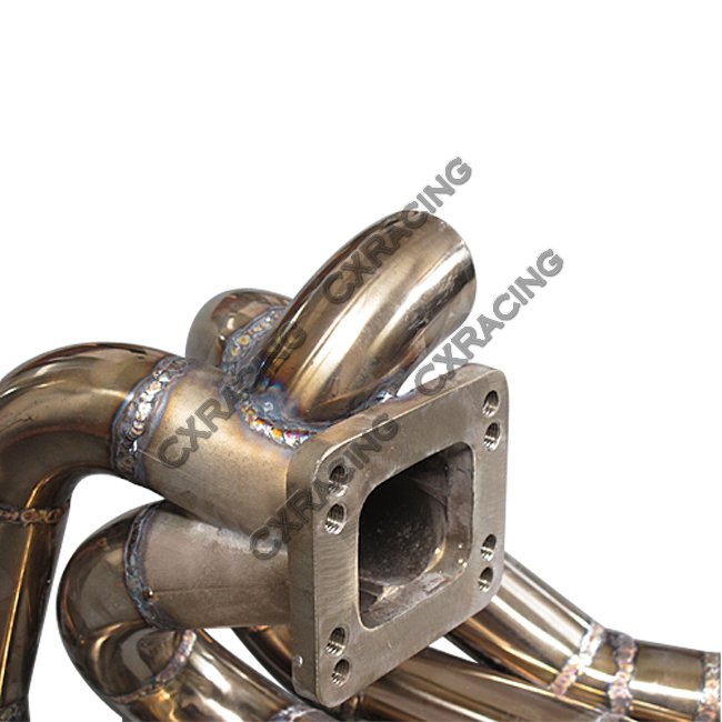 T3 T4 Top Mount Turbo Manifold + Downpipe For Civic D15