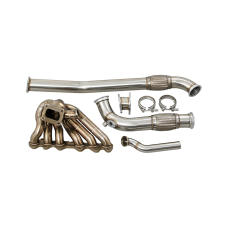 Turbo Manifold Downpipe Kit For 86-91 Mazda RX7 FC with 2JZ-GTE Engine