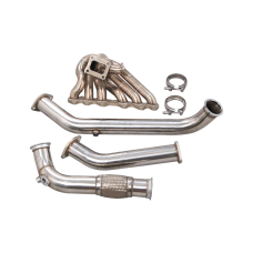 Manifold + Downpipe For 97-05 Toyota Lexus GS300 2JZ-GTE 2JZGTE Engine Single Turbo