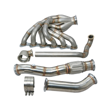 New V2 Turbo Exhaust Manifold + Downpipe  for 84-91 BMW E30 M20 T4 Vband