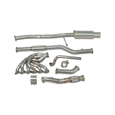 New V2 Turbo Exhaust Manifold + Downpipe Catback for 84-91 BMW E30 M20