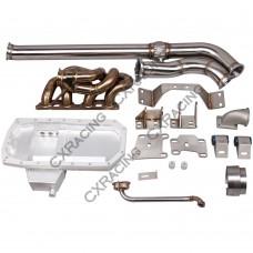 SR20DET Engine Transimission Mount Turbo Manifold Oil Pan For Datsun 510 Swap