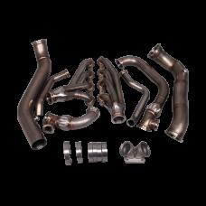 Turbo Manifold Header Downpipe Kit For 05-13 Chevrolet Corvette C6 LS3 NA-T