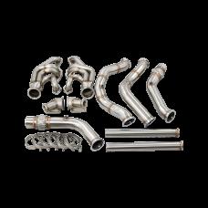 Twin Turbo Manifold Downpipe Kit For 65-70 Chevrolet Impala SBC Small Block
