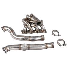 Version2 Turbo Manifold + Downpipe For 90-98 Mazda Miata MX-5 NA 1.6L