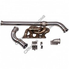 Thick Wall Manifold Downpipe For Nissan Datsun 510 S13 SR20DET Swap GT35 T3