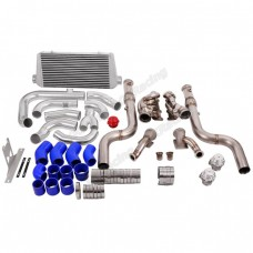 Twin Turbo Bottom Mount Header Downpipe Intercooler Kit For 2015+ Ford Mustang GT 5.0
