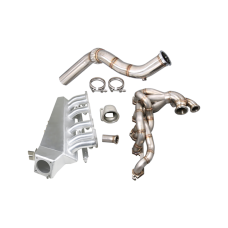 Turbo Exhaust Intake Manifold Fuelrail Downpipe Kit For 280Z Fairlady Z L28E L28