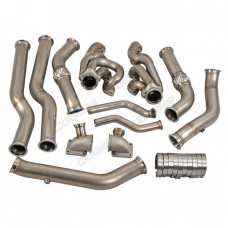 Twin Turbo Header Downpipe Kit for 68-72 Chevelle BBC Big Block 396 402 427