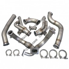 Turbo Manifold Header Downpipe Kit For 98-02 Chevrolet Camaro LS1 NA-T