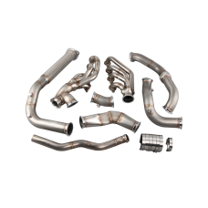 Turbo Headers Manifold Downpipe Kit For 07-14 Cadillac Escalade Suburban 6.2L