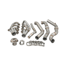 Turbo Header Manifold Downpipe Kit For 82-92 Camaro LS1 LSx Engine NA-T