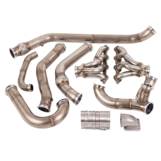 Single Turbo Manifold Downpipe Kit For 68-72 Chevelle with LS Swap