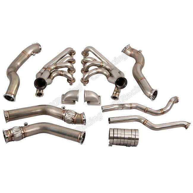 Ls1 Engine Twin Turbo: Twin Turbo Manifold Header Downpipe Kit For 67-69