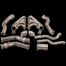 Twin Turbo Manifold Header Downpipe Kit for 67-69 Chevrolet Camaro LS1 Engine