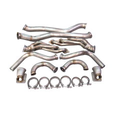 Twin Turbo Manifold Header Downpipe For 63-65 Chevrolet Chevelle LS1 LSx Swap