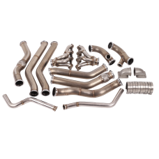 Twin Turbo Manifold Downpipe Kit For 68-72 Chevelle with LS Swap