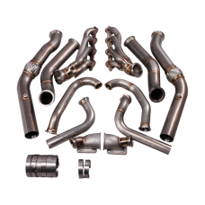 Twin Turbo Header Manifold Downpipe Kit for G-Body LS1 LS Cutlass Grand National