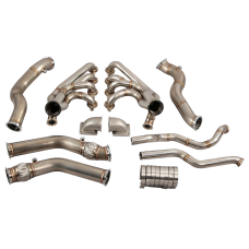 Twin Turbo Manifold Header Downpipe Kit For 68-74 Chevrolet Nova LS1 LSx