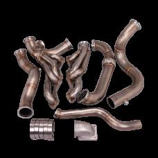 Turbo Header Manifold Downpipe Kit For 82-92 Chevrolet Camaro SBC