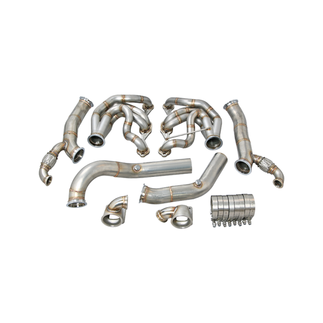 twin turbo manifold header downpipe for 60