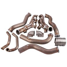Twin T4 Turbo Header Manifold Kit For 82-92 Chevrolet Camaro SBC Small Block
