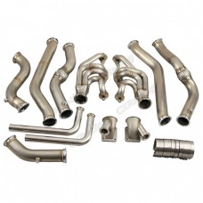 Twin Turbo Header Downpipe Kit for 68-72 Chevrolet Chevelle SBC Small Block