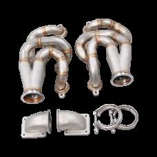 Twin Turbo Manifold Header Kit For 60-66 Chevrolet C10 Truck LS1 LQ Engine