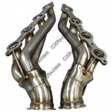 "3"" Vband LS1 LSx Twin Turbo Manifold Header For 63-67 Chevelle Camaro Impala"