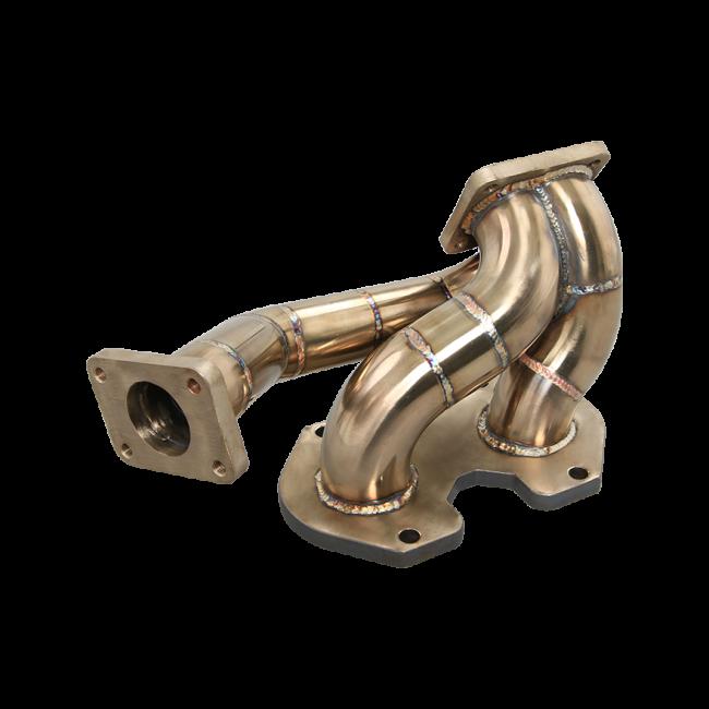 Elite 13b Manifold: Manifold Downpipe For 86-92 Mazda RX-7 RX7 FC 13B Top