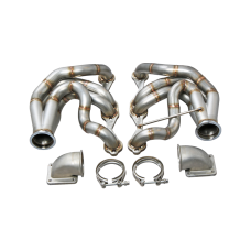 Twin Turbo Manifold Header T4 Elbow For 60-66 Chevy C10 Truck SBC Small Block