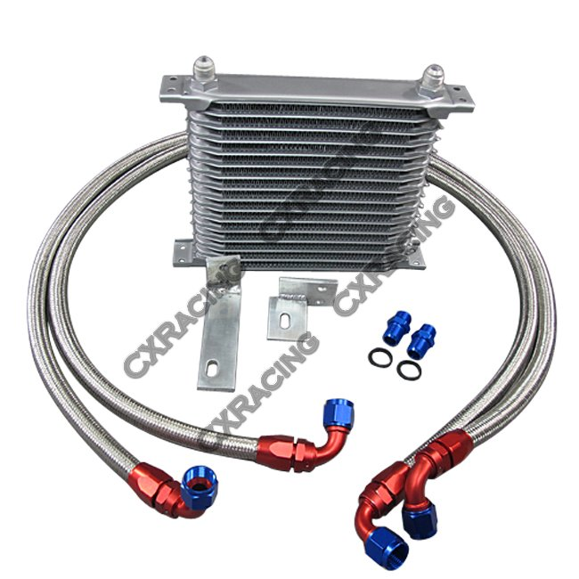 aluminum engine oil cooler upgrade kit for mitsubishi
