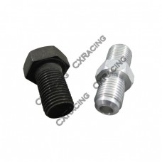 Oil Feed Cap bolt + AN4 fitting For 86-98 Supra 1JZGTE 2JZGTE 1JZ 2JZ Single Turbo