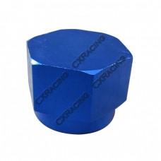 Anodized Aluminum Flare Oil Fitting AN 8 Cap Block Off AN8 8AN Blue
