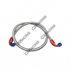 """Stainless Steel Braided Oil Line 90 Degree AN10 10AN AN 10 Fitting, 51""""or 61"""" Length"""