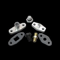 Turbo Oil / Water Line Feed Drain Fitting Kit For RB26DETT RB26 Engine 240SX S13