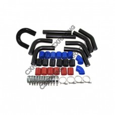 "2.5"" Intercooler piping kit 9pcs Free U Pipe for Civic CRX"